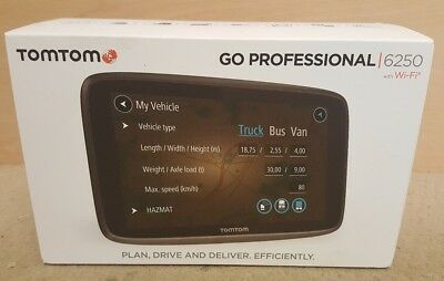 tomtom go professional 6250 lifetime maps traffic sat nav trucker truck eur 360 28 picclick de. Black Bedroom Furniture Sets. Home Design Ideas