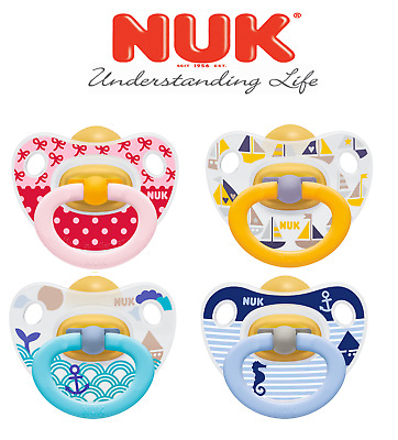 Nuk Baby Orthodontic Latex BPA Free Pacifier Soother Happy Kids 0-6 / 6-18