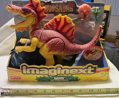 """Imaginext Dinosaurs LARGE 12"""" RIPPER THE SPINOSAURUS Fisher Price - NEW"""