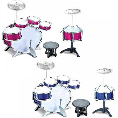 32d165a68 Childrens Kids 27Pc Rock Drum Kit Cymbal Music Percussion Playset Stool Toy  Gift