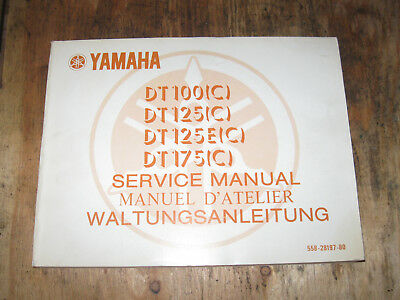 Yamaha Dt 100C 125C 125E(C) 175C  Owners Service Manual English And French
