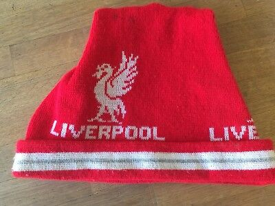 Vintage Liverpool FC, LFC Bobble hat Football Club, Anfield, 80's, Old Skool