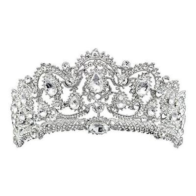 Silver Crown, Tiara, Wedding Prom Queen Quinceanera Pageant Princess Rhinestone