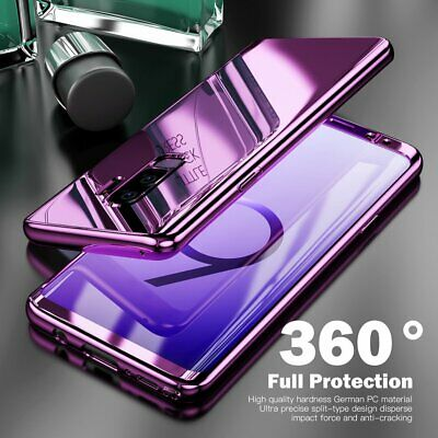 For Samsung Galaxy S9 Plus Note 8 360° Full Protection Hybrid Mirror Case Cover