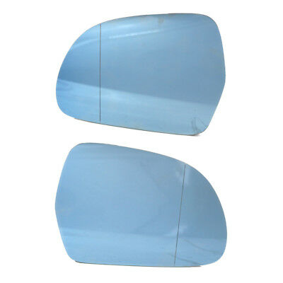 CLIP LEFT// RIGHT AUDI A3 A4 A6 A8 FACELIFT 99-02 WING MIRROR BLUE HEATED GLASS