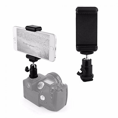 Hot Shoe Mount Adapter Kit- Attach Your Phone Flash Mount DSLR Camera 1/4 Screw