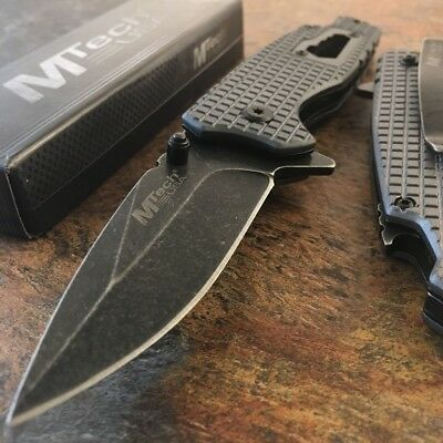 MTech SPRING ASSISTED BOTTLE OPENER KNIFE Tactical Folding Pocket EDC Blade NEW