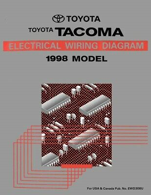 1998 toyota tacoma wiring diagrams schematics layout factory oem