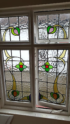 Leaded light stained glass window set. R500. WORLDWIDE DELIVERY!!!