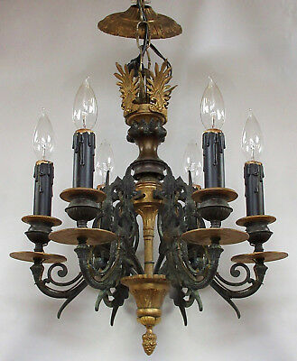 Vintage French Empire 6-Light Chandelier