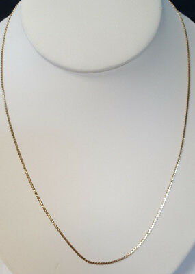 Beautiful 14KT Yellow Gold ITALY Designer Flat S Design Linked Chain Necklace