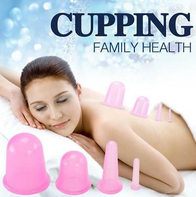 4pcs Silicone Massage Cup Vacuum Cupping Anti Cellulite Body Facial Cups Therapy