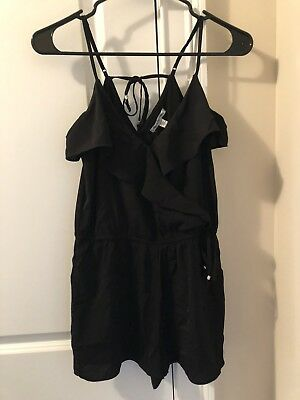 831dc97c2a72 AE AEO AMERICAN Eagle Outfitters Romper Dress Size XS Black -  14.00 ...