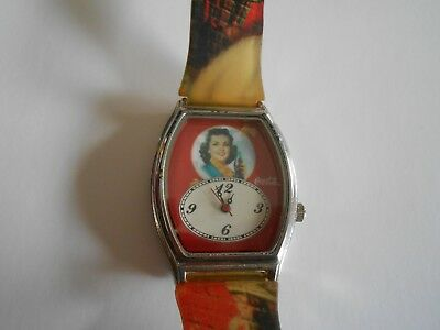 Coca Cola Vintage Wrist Watch With Retro Girl On The Face, Works Perfectly