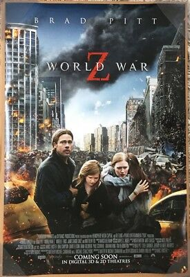 WORLD WAR Z MOVIE POSTER 2 Sided ORIGINAL INTL FINAL 27x40 BRAD PITT
