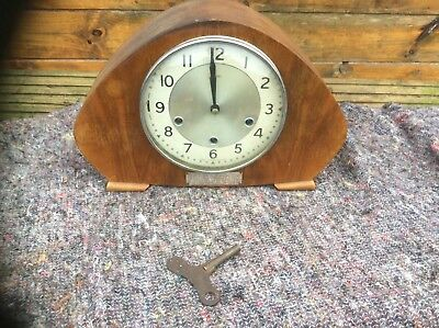 RARE SMITHS MANTEL CLOCK Wind Up With Key