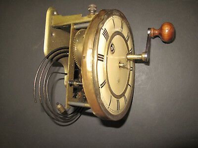 Vintage / Antique Junghans Clock Face & Movement & Gong * For Spares & Repairs *