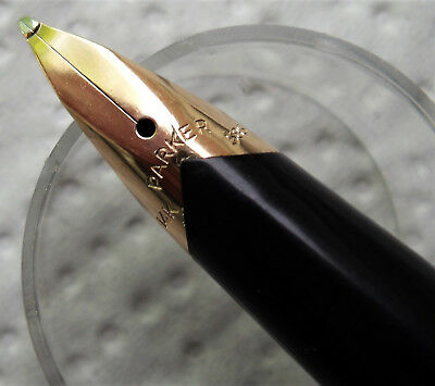 Parker 65 | 14K nib & Feed & Gripping Section | Converter Filling System | 70s