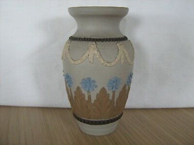 Royal Doulton Lambeth stoneware silicon vase urn applied decoration