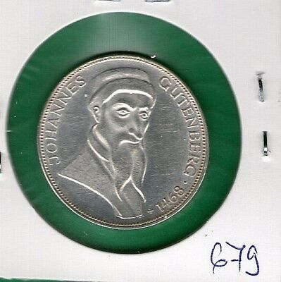Germany 5 mark 1968 .g.  SILVER SILBER COIN TOP QUALITY  UNC