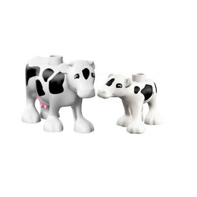 『New』 Lego Duplo Animal Zoo Farm Cow and Baby Calf Lof of 2
