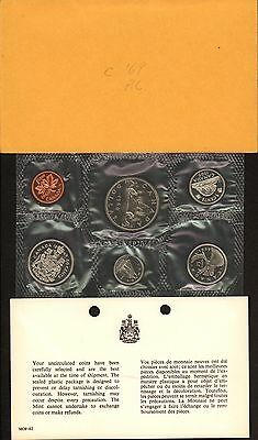 {BJSTAMPS}   1969 Canada Mint Set with Envelope and COA Card