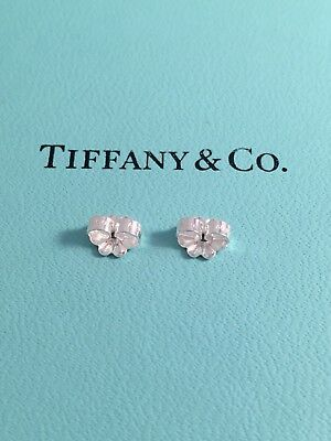 Authentic Tiffany & Co Silver Butterly Earrings Backs For Replacement Brand NEW
