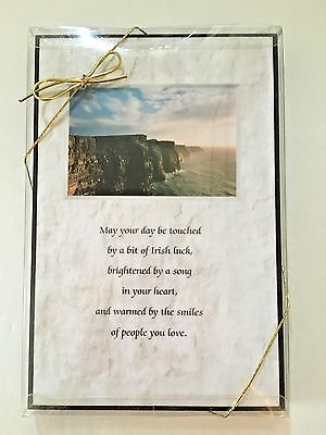 "IRISH BLESSING 6"" x 9"" Plaque Handcrafted IRISH & CELTIC Reflections NEW!"