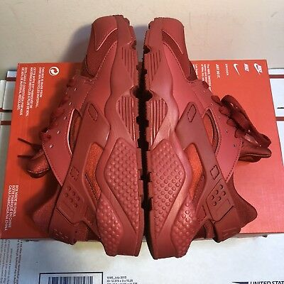 NEW AUTHENTIC NIKE AIR HUARACHE VARSITY RED MEN SNEAKERS 318429-660 Sz 8=Wmns9.5