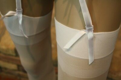 """Limited Offer """"20 Pairs"""" of White 100% Nylon Stockings"""