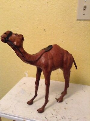 Vintage Leather Dromedary Camel Figurine