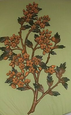 Vintage 1968 SYROCO Large DOGWOOD Branch FLOWER Wall Hanging Plaque DECOR