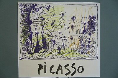 "PICASSO PABLO ART PRINT POSTER 38/"" x 27/"" 246 1957 THE PIGEONS"