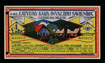 Latvia Wounded Warriors' Union lottery 1936