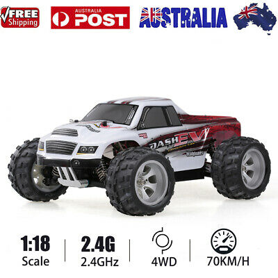 70KM/H WLtoys A979-B 2.4G 1/18 Scale 4WD High Speed Off-Road RC Truck Car