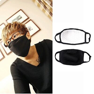 US Adults Unisex Outdoor Mouth Anti-Dust Face Mask Black Respirator Mask 1pc