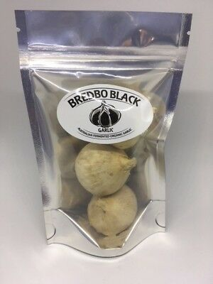 Australian Black Organic Garlic 3 Solid Bulbs X 2 Packets Free Postage To Aust.