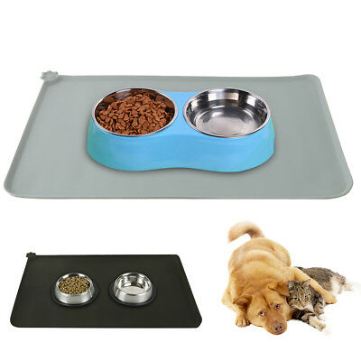 Pet Silicone Food Feeding Mat Waterproof Non-slip Cat Dog Tray Bowl Non-Toxic