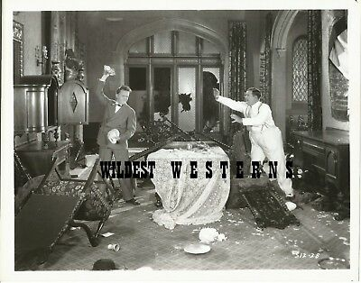 STAN LAUREL and OLIVER HARDY rare VINTAGE PHOTO Hal Roach EARLY TO BED