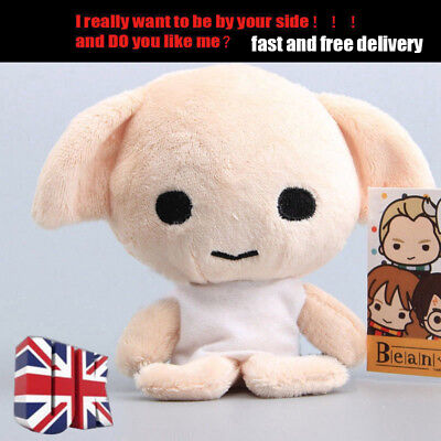 """4"""" Funny Harry Potter Beans-Dobby Beanie Soft Stuffed Doll Plush Toy kids Gifts"""
