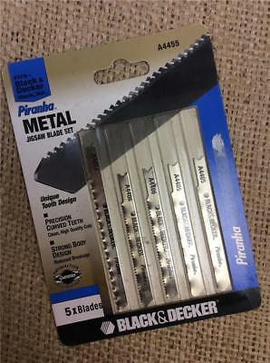 Clearance Lot455 Black And Decker A4455 Metal Jigsaw Blade Set  Curved Tooth