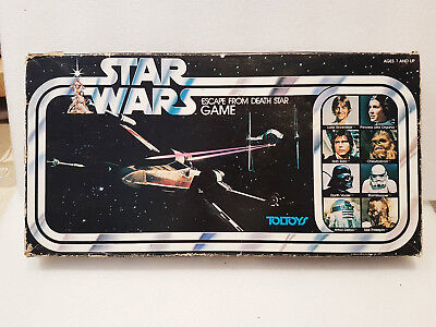 Vintage Board Game Complete - STAR WARS Escape From The Death Star TOLTOY - 1977