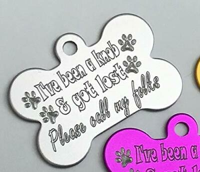 Funny Dog Tag Personalised 38Mm Bone Dog Id Tag Not All Who Wander Are Lost