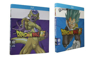 Dragon Ball z Super Part Two and Three 2 & 3 (Blue Ray)  Combo Bundle Set Sealed
