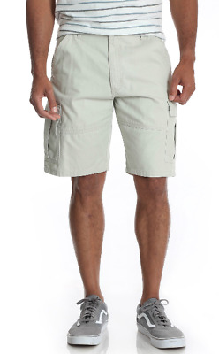 b51d8361c4 Men's Wrangler Cotton Khaki Cargo Shorts Relaxed Fit At Knees 34 36 38 40  42 44