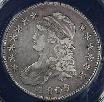 1809 50c Capped Bust Half Dollar ANACS EF 40 DETAILS CLEANED