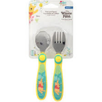 Winnie The Pooh Fork And Spoon Set Ages 9 Months+ New
