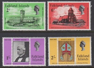 FALKLAND ISLAND 1969 Centenary of Bishops Sterling MINT set sg250-253 MNH