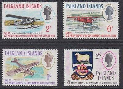 FALKLAND ISLAND 1969 Government Air service MINT set sg246-249 MNH