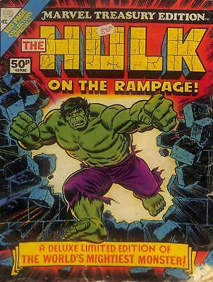 Hulk On The Rampage (Marvel Treasury Edition No. 5) 1975, , Good Condition Book,